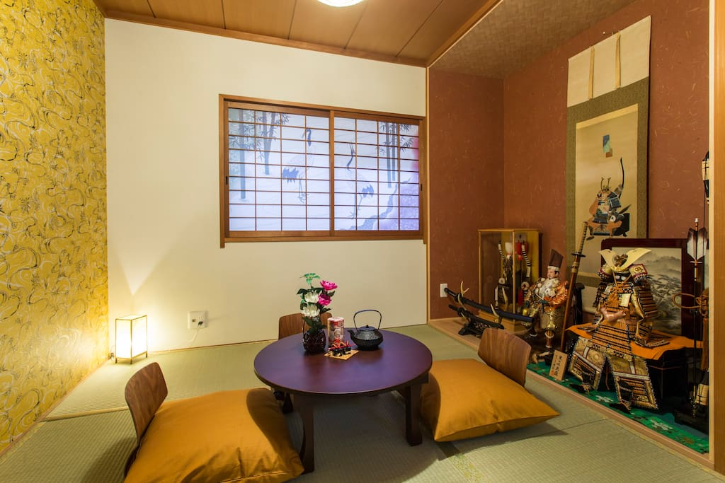 Japanese style Bedroom with 2 Futon