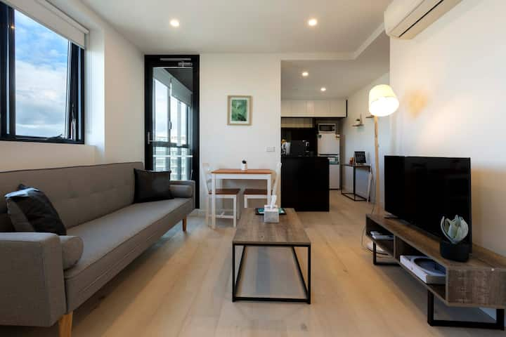 Cosy Southbank Apt w/ stunning view#Free Parking#