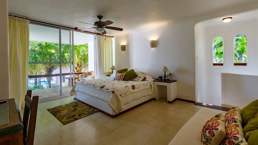 Guest House Bedroom with ocean view