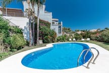 Exclusive swimming pool for the Marbella Hill Village gated community
