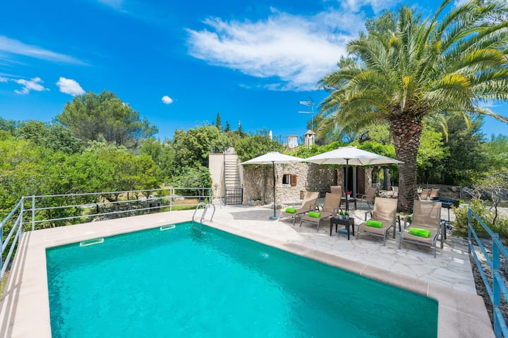 FANGAR VELL - Villa with private pool in Campanet. Free WiFi