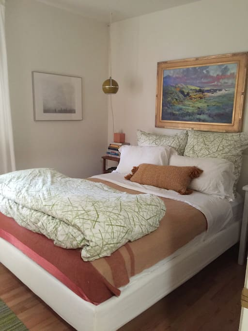 Your bedroom with a Queen size bed.