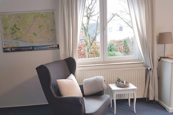 Cosy, quiet apartment near Hamburg