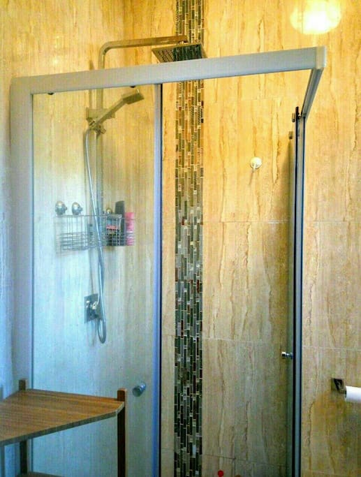 new renovated shower room.