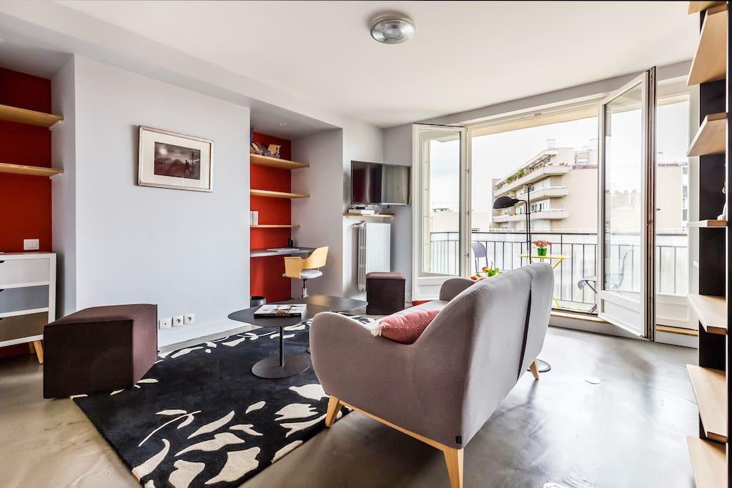 Sejour + coin bureau- Living room + study
