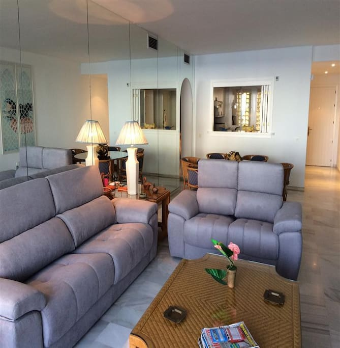 Spacous living room with ADSL internet + UK TV