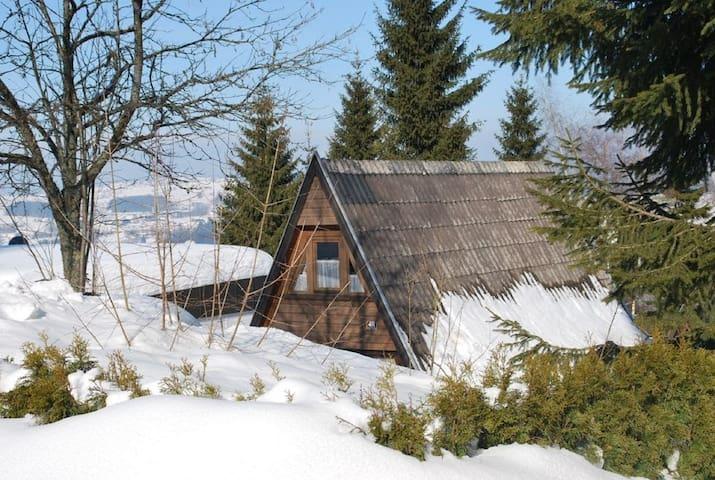 """Ferienhausgemeinschaft Solla-Hermannsau (Freyung), Nurdachhaus """"Nr. 48"""" mit zwei Schlafzimmern"""