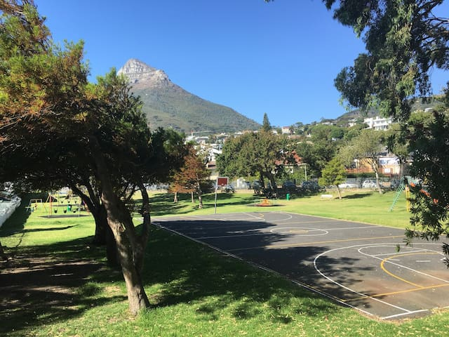Play park opposite the studios