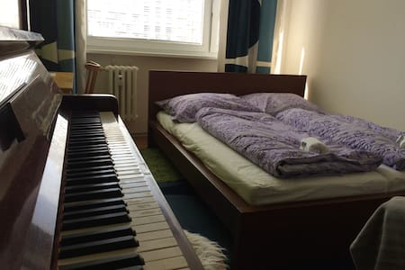 Cozy Room with Piano! 15 MINUTES FROM CITY CENTER