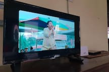"Entertainment : A 39"" LCD TV with BluRay DVDs and player"