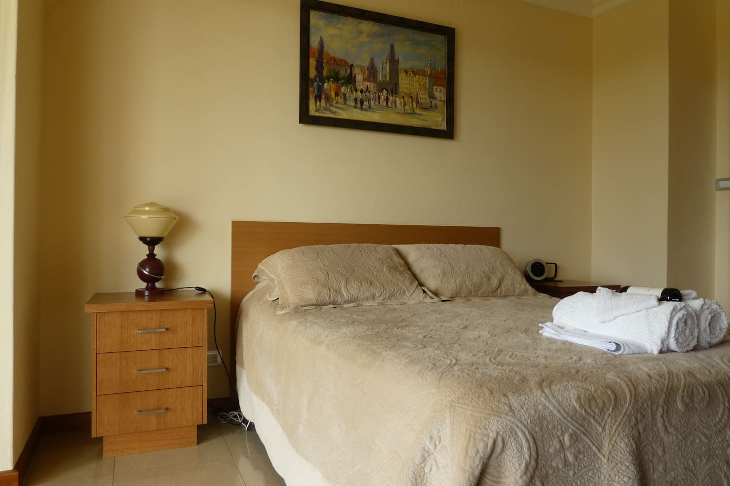 Modern with queen size bed and private ensuite
