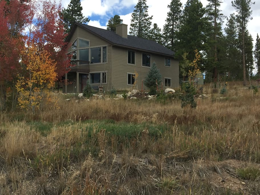 Set on an acre of land with private neighborhood cross country and hiking trails