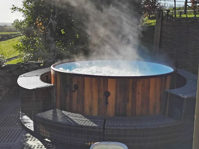 Our new all weather 40 degree hot tub is available all year round for your exclusive use during your stay.