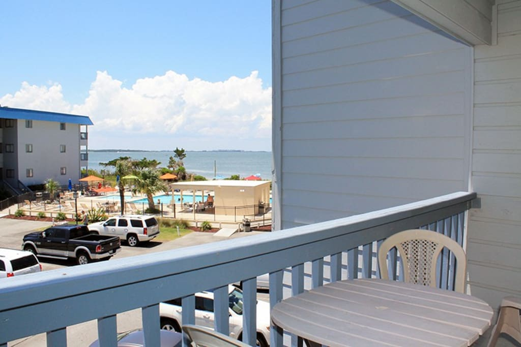 Enjoy Views of the Savannah River Entrance and Atlantic Ocean from your Private Balcony