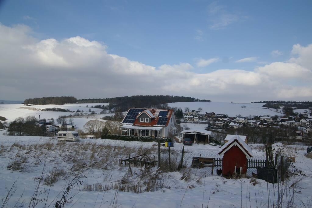 Spaziergang im Dorf