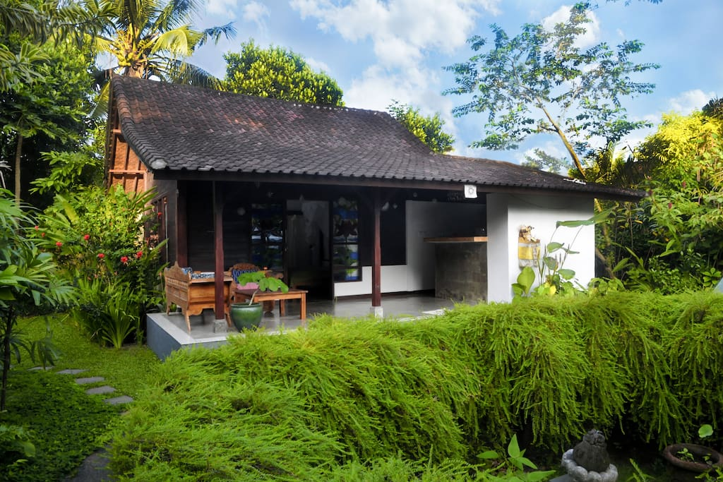 eco house with pool yoga terrace in penestanan maisons louer ubud bali indon sie. Black Bedroom Furniture Sets. Home Design Ideas