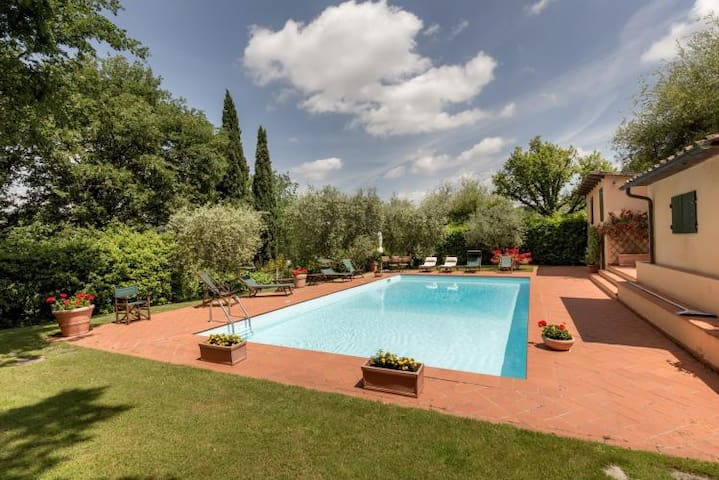 Elegant villa with private garden and pool