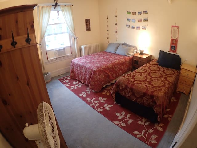 Spacious Uptown Room close to Downtown (Rm #1)