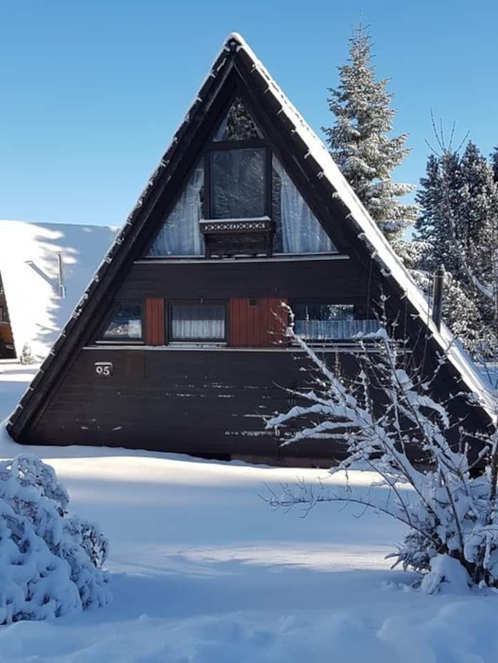Nurdachhaus Winnetou im Ferienpark Tennenbronn