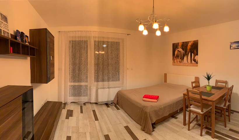 The cozy studio in calm area-15min from the center