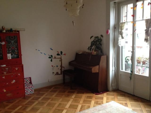 Full 3 rooms luminous apartement in old cosy house