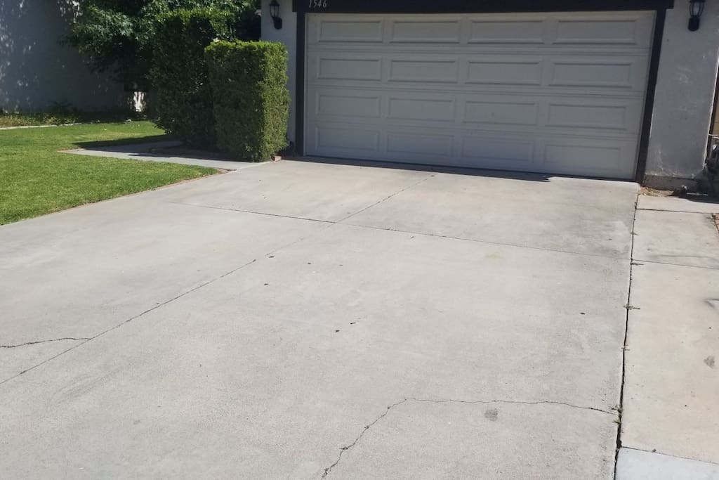 Park on the driveway