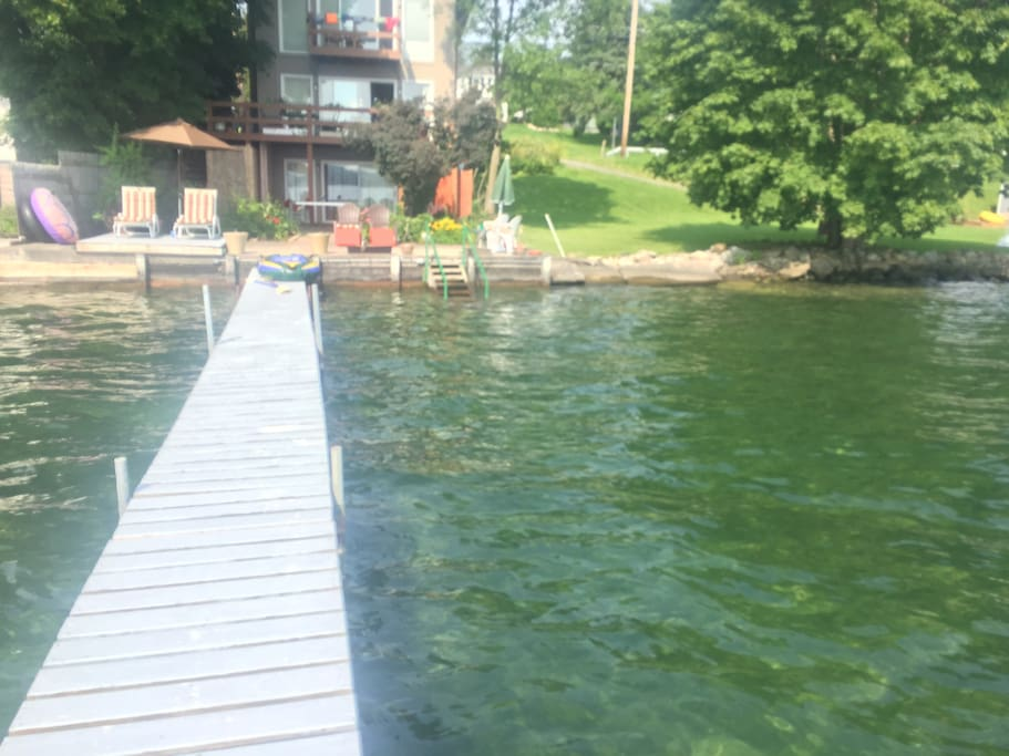 Summer and Winter Fun - note:  Dock and outdoor chairs at water level put away in Nov-December and taken out in Spring - depending on weather conditions.