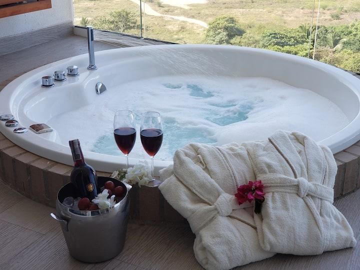 Alojamiento con jacuzzi privado y excelente vista