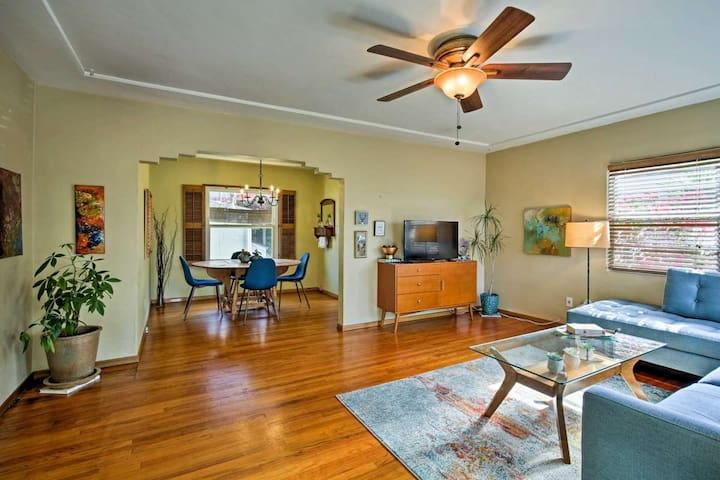 Relax, watch cable TV and share meals in this inviting living and dining area.