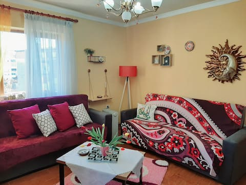 living room is comfortable and spacious