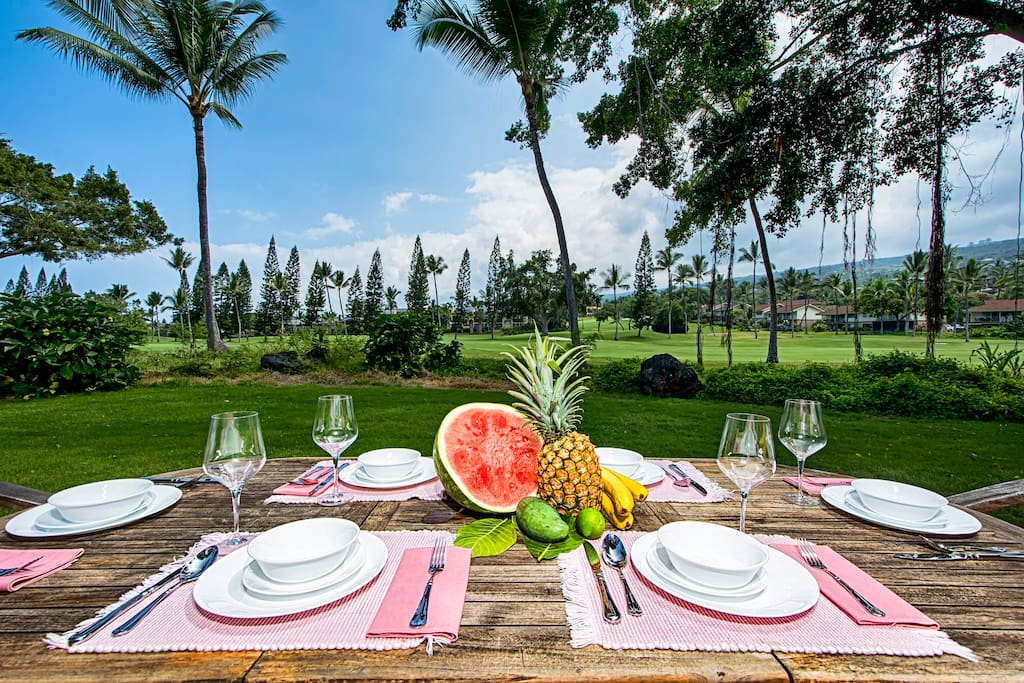 Next to the Kona Country club golf course