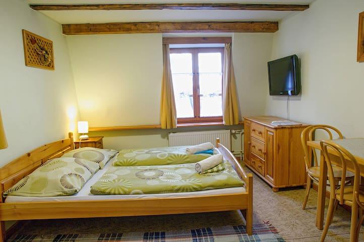Apartment A   2 double rooms   Penzion Pod Branou