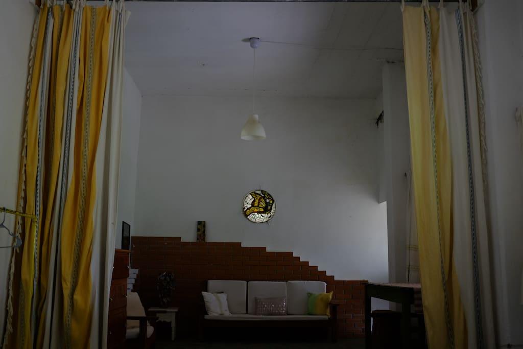 Espacio amplio en la casita/Open space in the bungalow