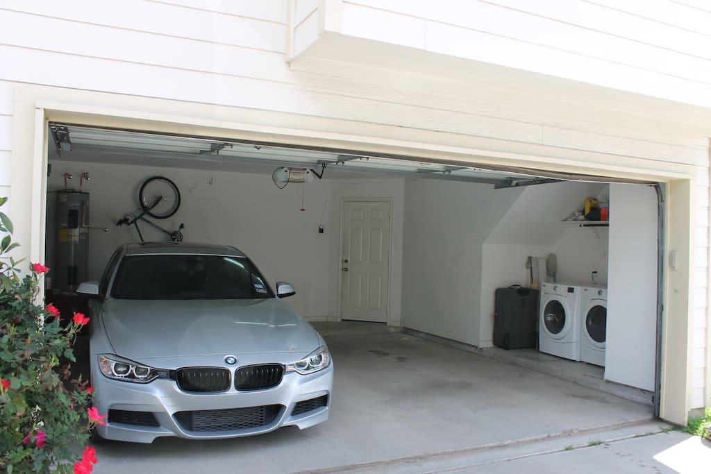 2 Car Garage + Washer/Dryer
