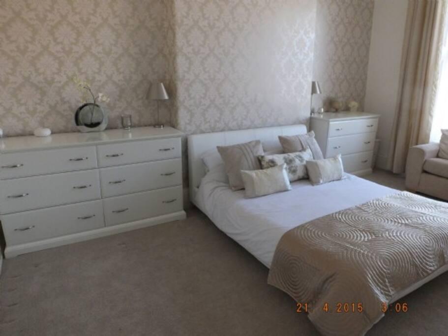 Master bedroom. Beautiful, spacious bedroom