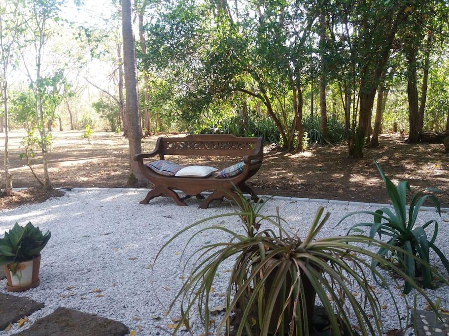 espace privé rien que pour vous, au coeur du parc tropical