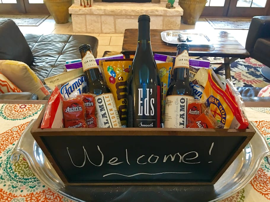 Welcome Gift Basket for all Guests!