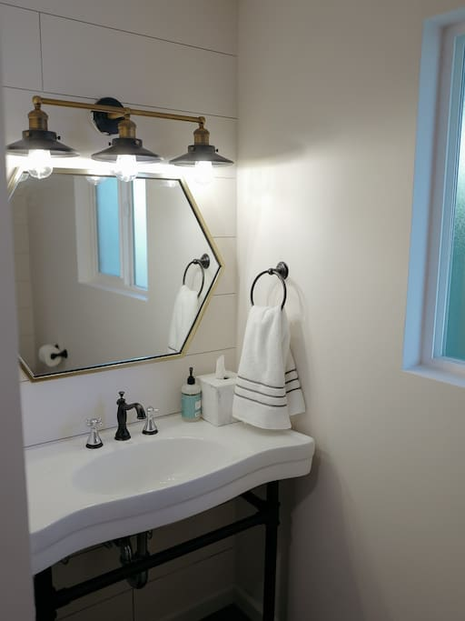Newly updated bathrooms with all new fixtures