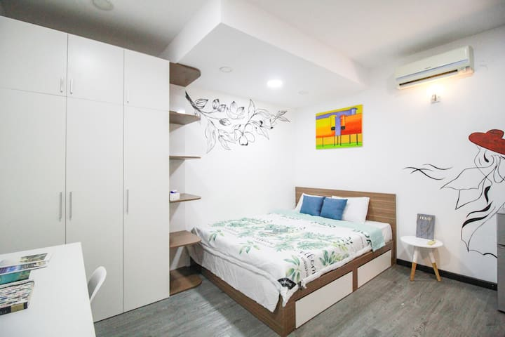 🇻🇳2 Cosy Studio for 2 person in central District 2