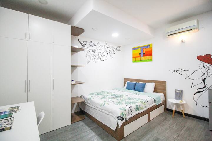 🇻🇳2 Cosy Studio for 2 person in central District 2