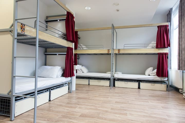 Bed in 10 Bed Dorm