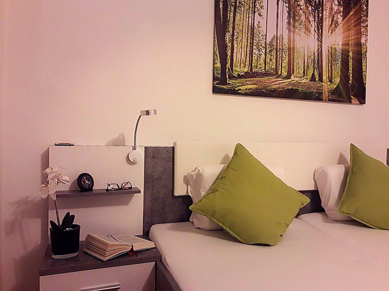 Gemütliches Schlafzimmer zum Wohlfühlen