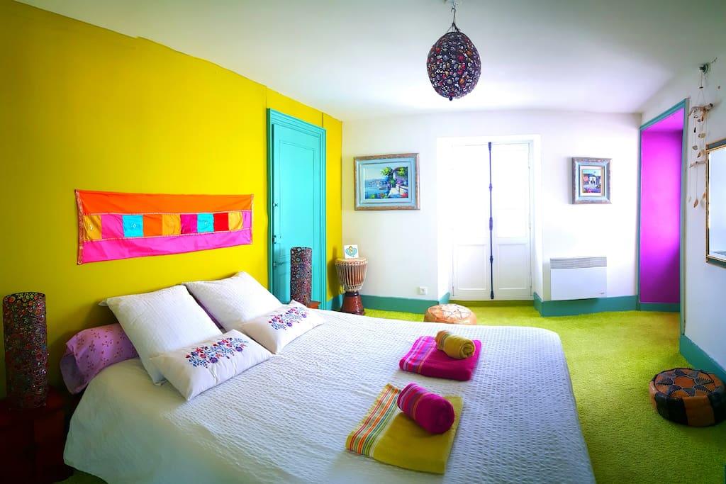 La chambre avec lit de 160.