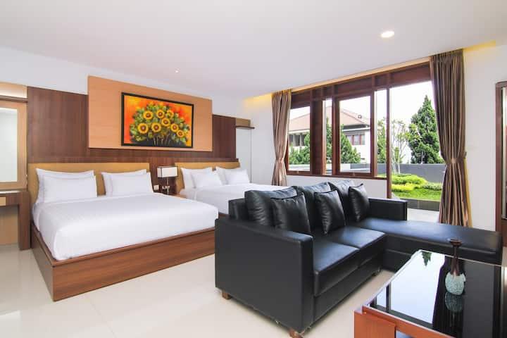 1BEDROOM/1BATH/2 DOUBLE BEDS Deluxe Suite
