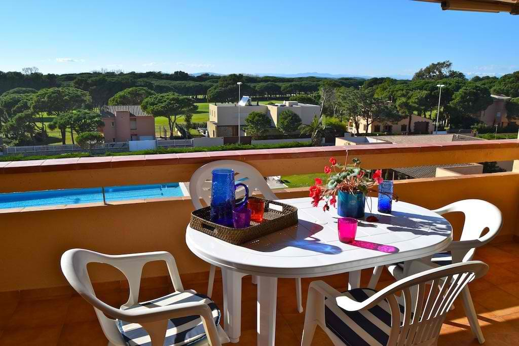 terraza con vistas a piscina y jardin comunitario-SA PUNTA COSTA BRAVA