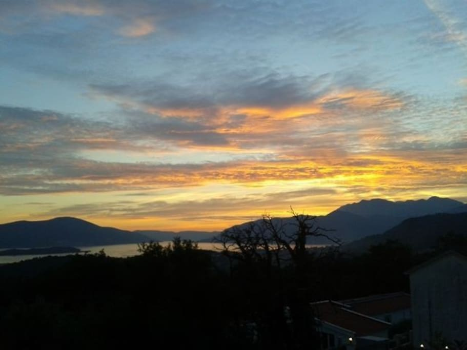 View over Tivat Bay