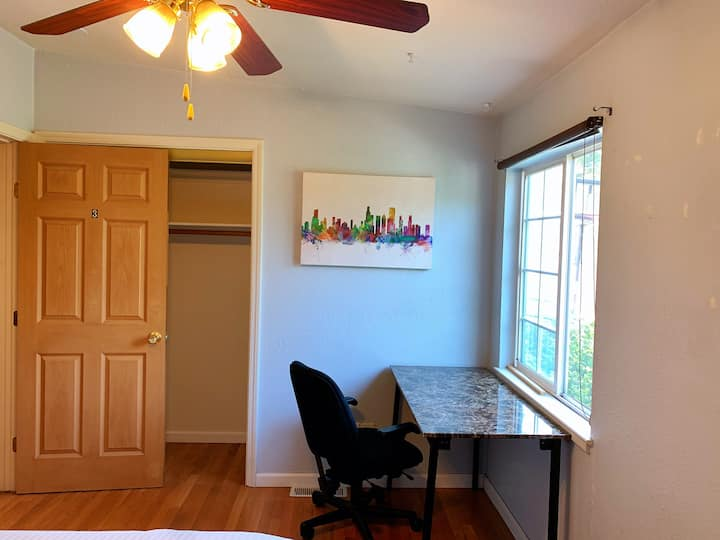 *3 SanJose down town Clean quiet safe private room