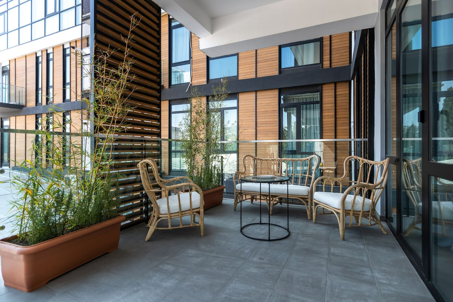 Beautiful and spacious terrace where you can enjoy morning coffee