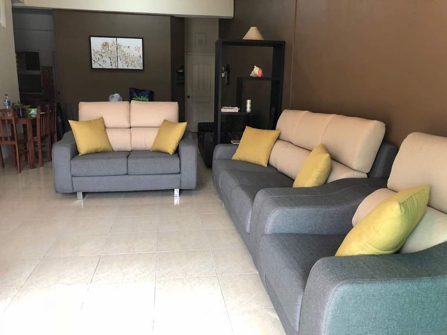 Cozy new comfortable sofa