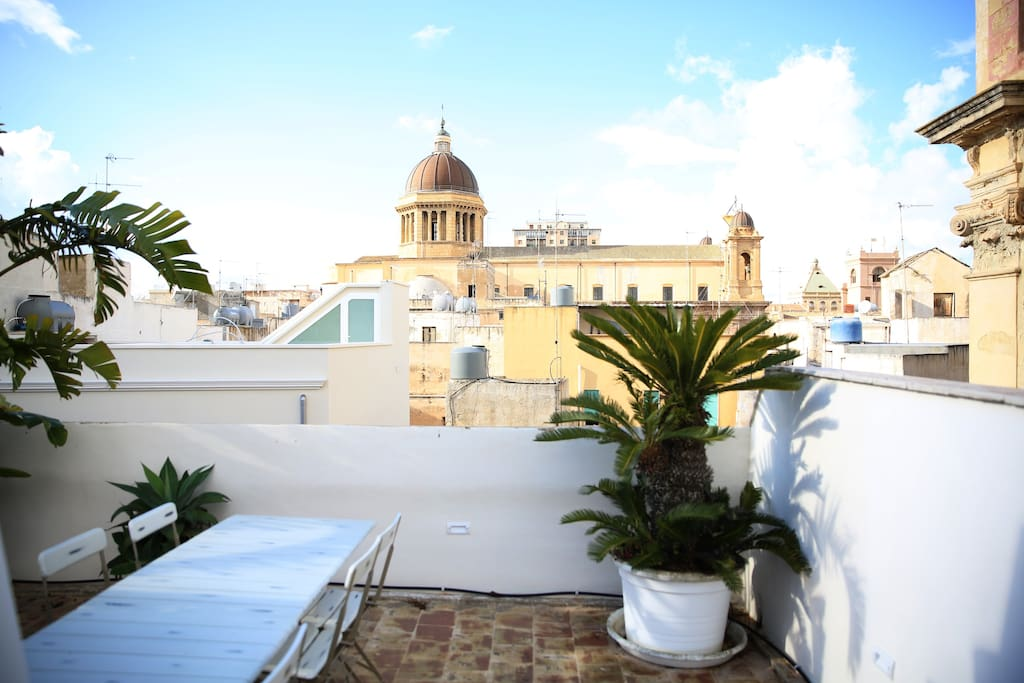 The Cathedral cupolas, bell towers and colourful rooftops can be admired from the terraces.